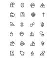 Easter Line Icons 2 vector image