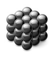 Cube from magnetic balls vector image