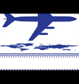 map and airplane vector image vector image