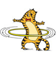 Cat rotates the hoop vector image vector image