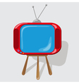 Icon the red TV vector image