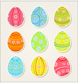 Collection of easter stickers vector image