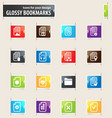 documents bookmark icons vector image