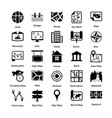 pack of maps and navigation glyph icons 3 vector image