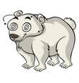 polar bear with dizzy eyes vector image