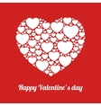 white hearts on red background vector image