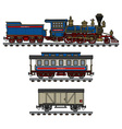 Old american steam train vector image