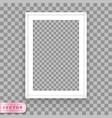 Poster frame design template vector image