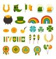Saint Patricks Day icons set vector image vector image