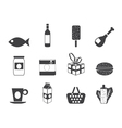 Silhouette food and drink icons 1 vector image vector image