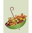 flowers in umbrella vector image