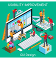 GUI design People Isometric vector image vector image