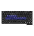 black laptop keyboard vector image vector image