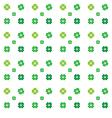 Seamless pattern clovers on white backg vector image
