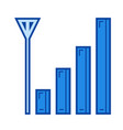 mobile signal line icon vector image