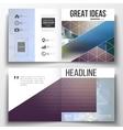 set of square design brochure template vector image