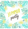 Summer party template Flyer poster vector image
