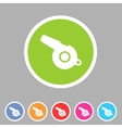 whistle blower sport football app icon flat web vector image