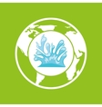 environment care globe water icon graphic vector image