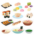japanese food sushi asian rice with fish vector image