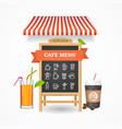 cafe menu concept vector image vector image