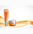 body cream cosmetic ads template vector image