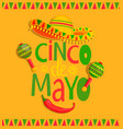 Hand drawn lettering - cinco de mayo vector image