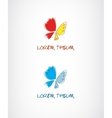 butterfly logo for your company vector image
