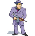 gangster with tommy gun vector image