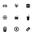 cinema icons set vector image