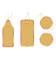 wooden price tags vector image vector image