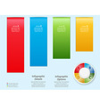 Infographic background over light blue vector image vector image