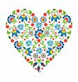 Polish Folk Heart vector image