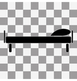 Flat The bed icon Hotel symbol vector image