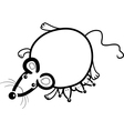 mouse mother with babies for coloring vector image