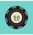flat icon stylish background single poker chips vector image
