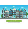 amsterdam city street vector image