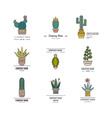 Cactus Logo Templates vector image