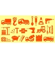 construction set yellow objects vector image
