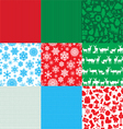 different set of christmas backgrounds vector image