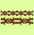 ornamental stripe pattern paisley floral design vector image