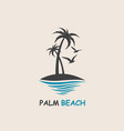 palm beach icon vector image