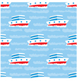 seamless ships pattern vector image