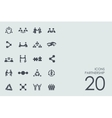 Set of partnership icons vector image