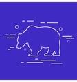 Bear Line Icon vector image
