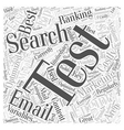 Costly Email Mistakes Word Cloud Concept vector image