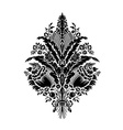 Classic damask floral patterne vector image vector image