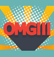abstract omg background comic book vector image