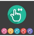 Drag hand flat icon vector image
