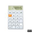 realistic electronic calculator vector image